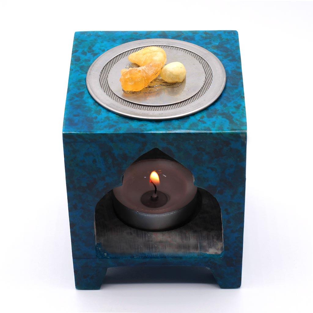 Duftlampe Speckstein mit Räucherplatte
