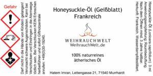 Honeysuckle-Flaschenlabel