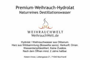 Hyrdrolat-Oman-Flaschenlabel