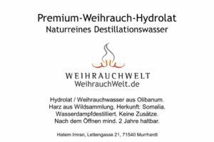 Hyrdrolat-Somalia-Flaschenlabel