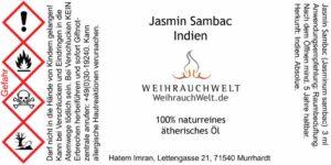 Jasmin-Sambac-Flaschenlabel