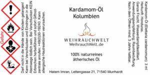 Kardamom-Flaschenlabel