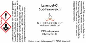 Lavendel-Flaschenlabel