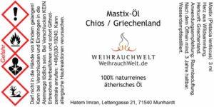 Mastix-Flaschenlabel