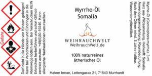 Myrrhe-Somalia-Flaschenlabel