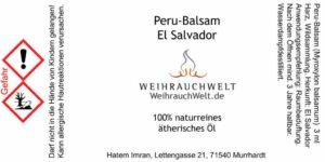 Peru-Balsam-Flaschenlabel