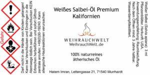 Salbei-Flaschenlabel