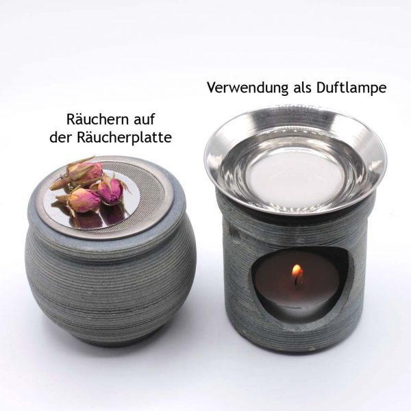 Set mit Sieb und Duftlampe