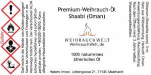 Shaabi-Flaschenlabel