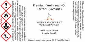 Somali-Flaschenlabel